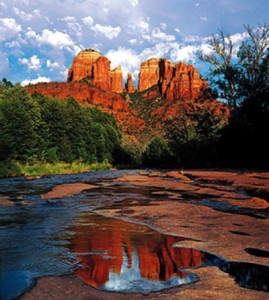 Above is a phot of Red Rock Crossing...while the rocks are in Sedona, the shot was taken from the Village, south of Sedona.