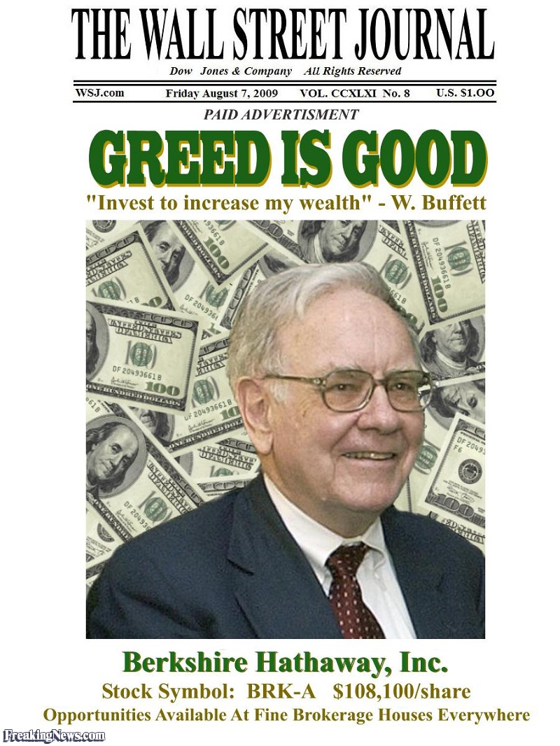 GREED NOT GOOD . . . by Will Durst